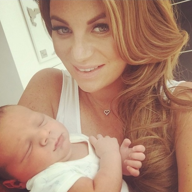 Billi Mucklow shares adorable picture of baby son Arlo - 25 June 2015.