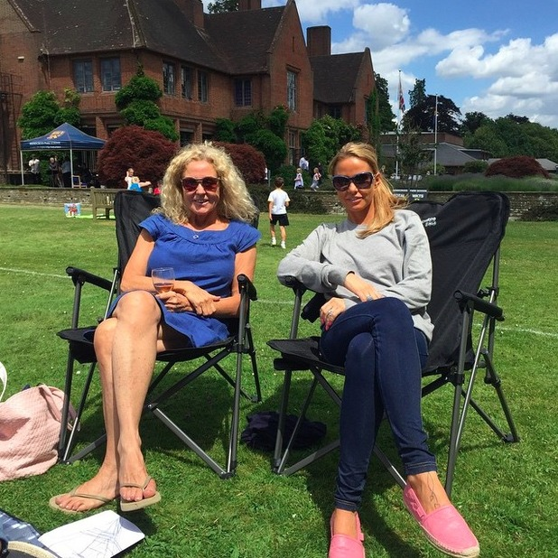 Katie Price enjoys sports day with kids and mum, 27 June 2015