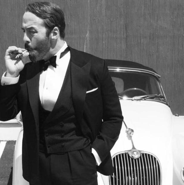Jeremy Piven films for the fourth series of Mr Selfridge - 23 June 2015.