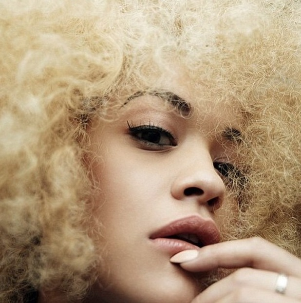 Rita Ora wears blonde afro for hunger magazine shoot with Rankin 24th June 2015