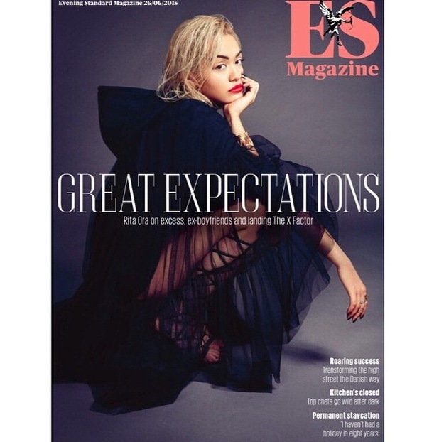 Rita Ora posts picture of her ES Cover to Instagram 25th June 2015