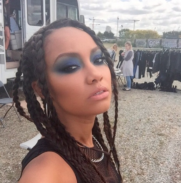 Little Mix's Leigh-Anne Pinnock shares picture of make-up on Instagram 25th June 2015