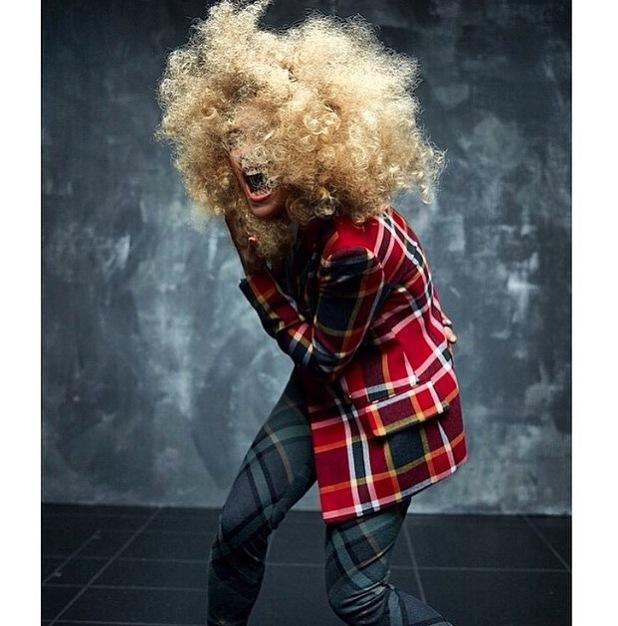 Rita Ora wears afro for hunger magazine 24th June 2015