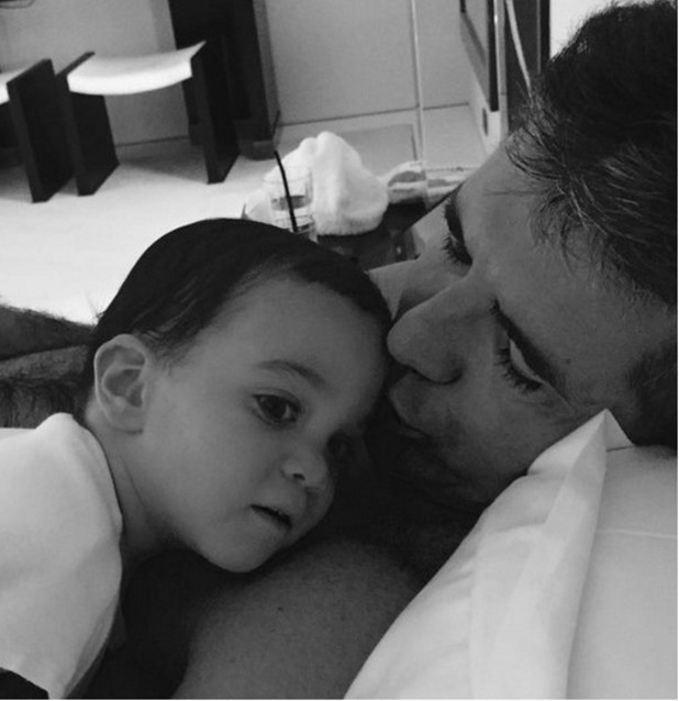 Simon Cowell shares a photo with son Eric to mark Fathers Day, 22nd June 2015