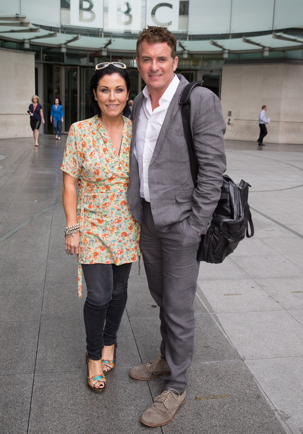 EastEnders stars Shane Richie and Jessie Wallace pictured leaving the BBC Studios - 23 June 2015.