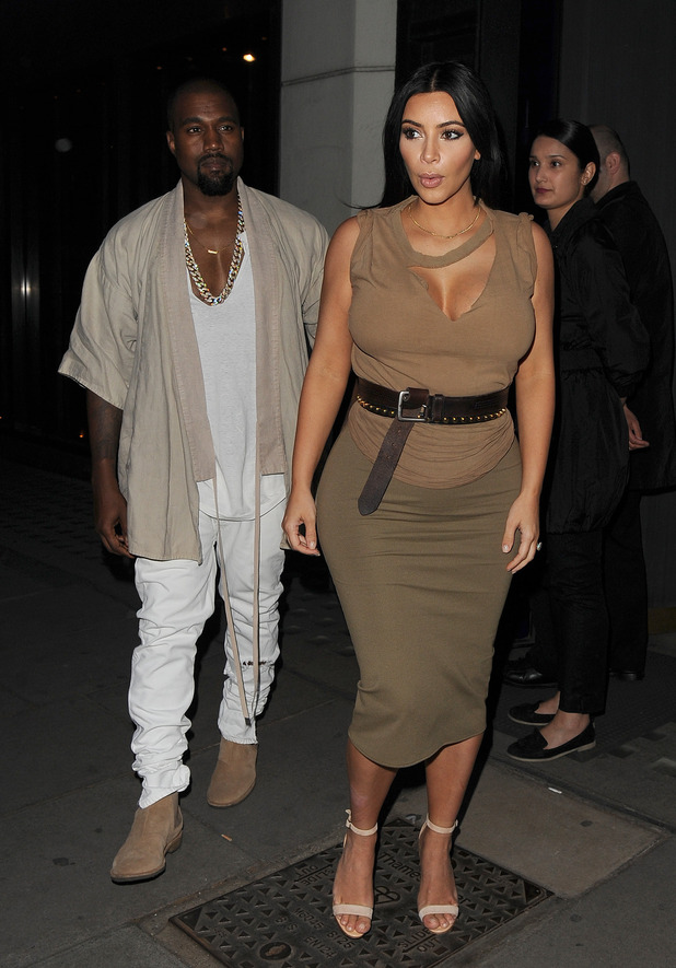 Kim Kardashian and husband Kanye West enjoy a date night at Hakkasan restaurant in Mayfair - 25 June 2015.