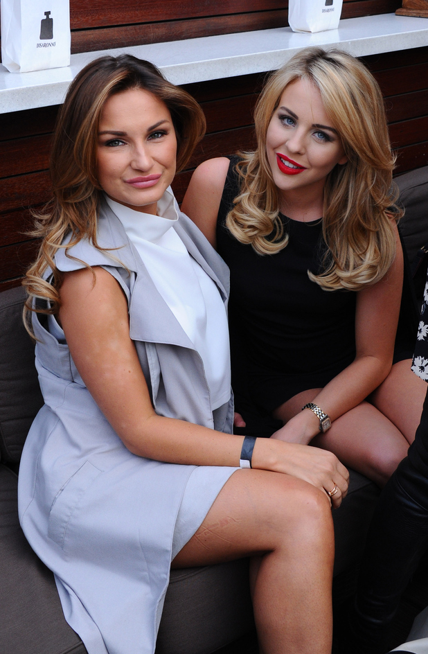 Sam Faiers and Lydia Bright at the launch of the DISARONNO Terrace at London's Golden Bee on June 24, 2015 in London, England.