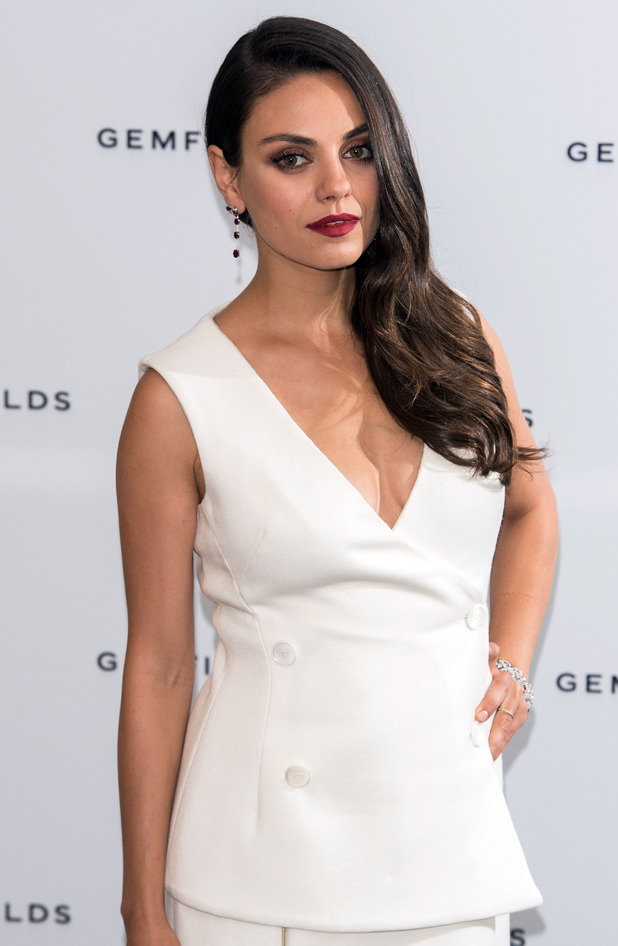 Gemfields' global brand ambassador Mila Kunis attends a preview of a short film celebrating Gemfields' Mozambican rubies at the Corinthia Hotel 24th June 2015