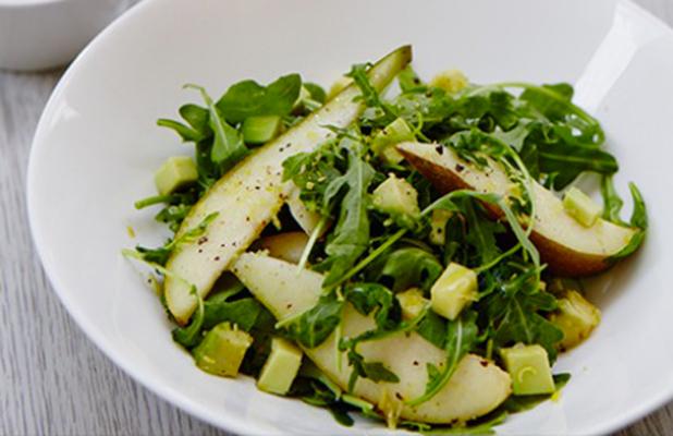 Novak Djokovic's green salad with pear and avocado salad.