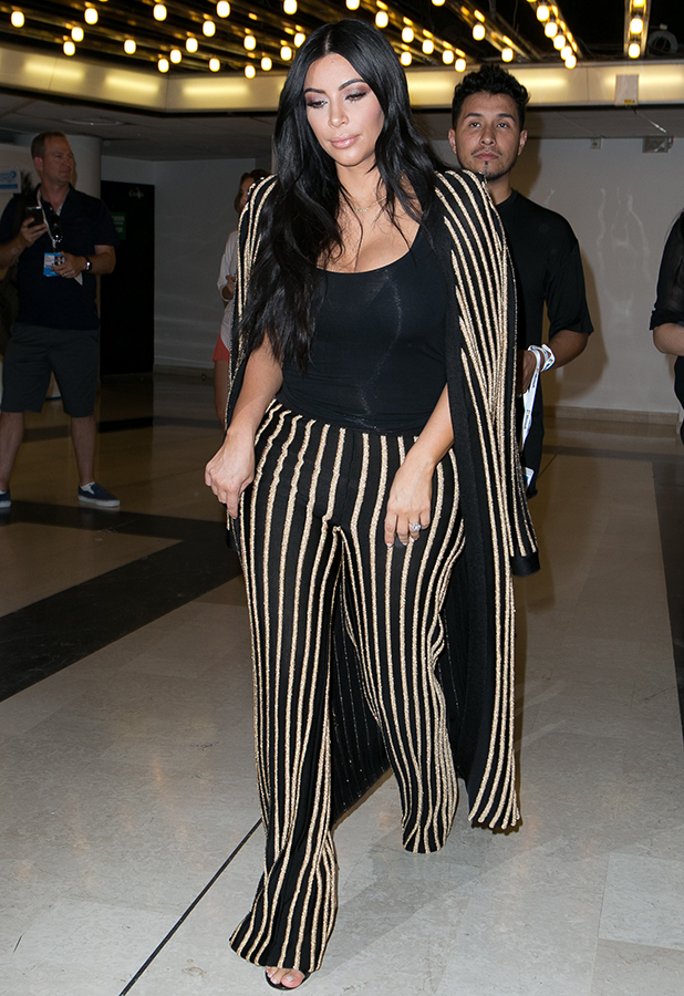 Kim Kardashian West arrives at the Palais des Festivals to attend the 'Cannes Lions Festival' on June 24, 2015 in Cannes, France. (Photo by Marc Piasecki/GC Images)
