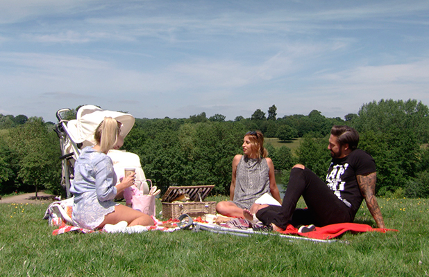 TOWIE episode to air 24 June: Mario, Billie and Ferne have a picnic.