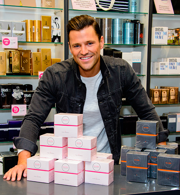 Mark Wright launches two new fragrances 'Mark Wright for Men' and Mark Wright for Women' at Bluewater