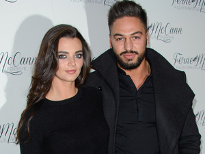 Mario Falcone and Emma McVey attend Ferne McCann blog 'Fashionable Foodie' launch at Charlies Deli in Brentwood 05/02/15