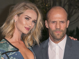 Rosie Huntington-Whiteley & Jason Statham attend the Burberry 'London in Los Angeles' event at Griffith Observatory 16/04/15