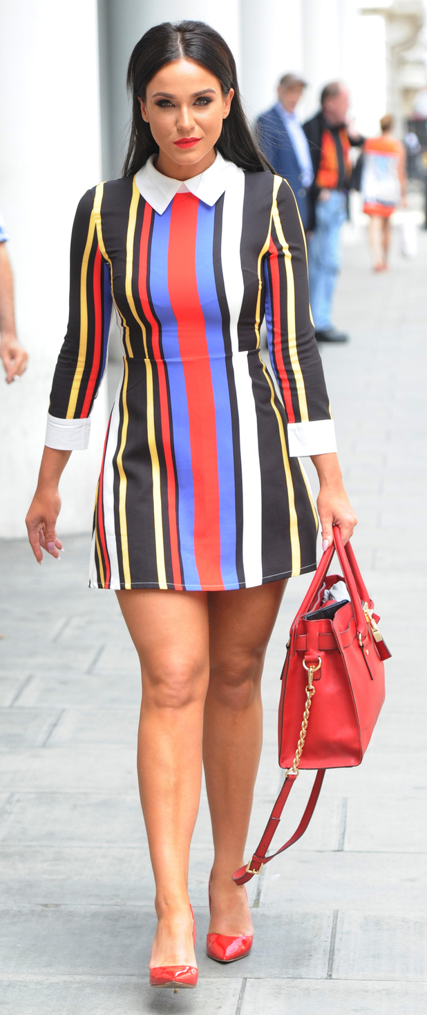 Vicky Pattison on her way into the Radio 1 studio in London 2nd July 2015