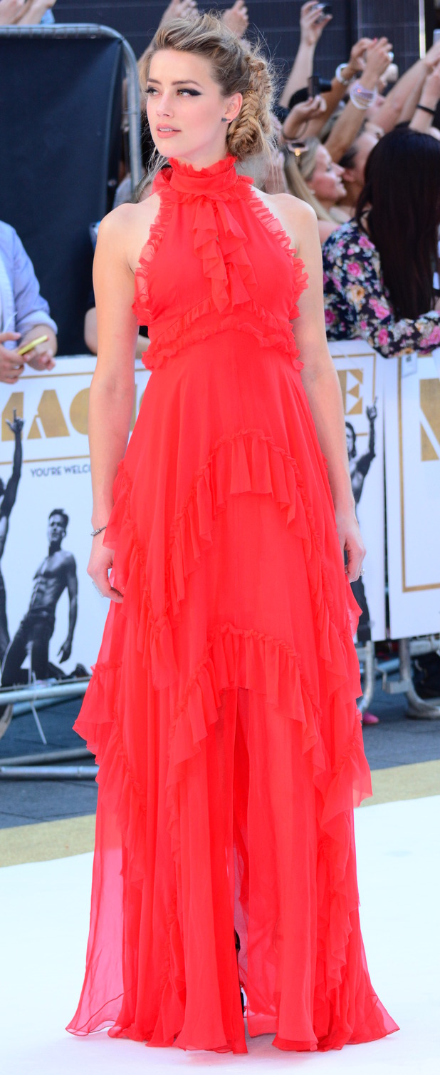 Amber Heard at the Magic Mike XXL premiere in London 1st July 2015