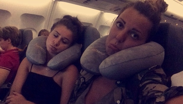 Brooke Vincent blog photo - on the plane - 1 July 2015.