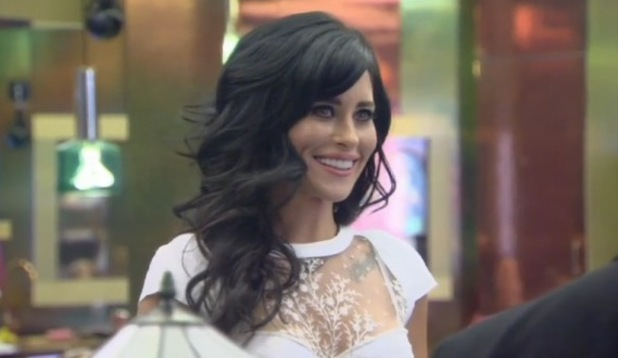 Jasmine Lennard enters the Big Brother house as part of this week's shopping task - 30 June 2015.