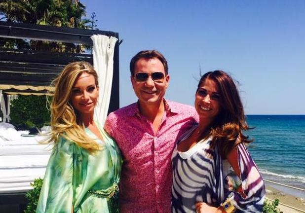 GMB presenter Richard Arnold hangs out with Life On Marbs cast in Marbella.