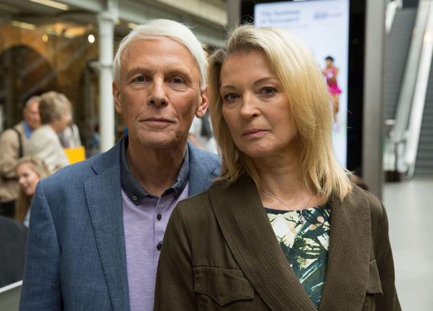 Gillian Taylforth films more scenes as Kathy Beale ahead of EastEnders return - June 2015.