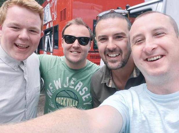 Paddy McGuinness continues to film Coronation Street guest appearance - 1 July 2015.