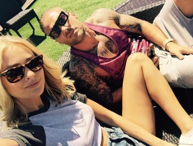 Calum Best enjoys sunny lunch with girlfriend Ianthe in London just a day after Love Island stint - 30 June 2015.