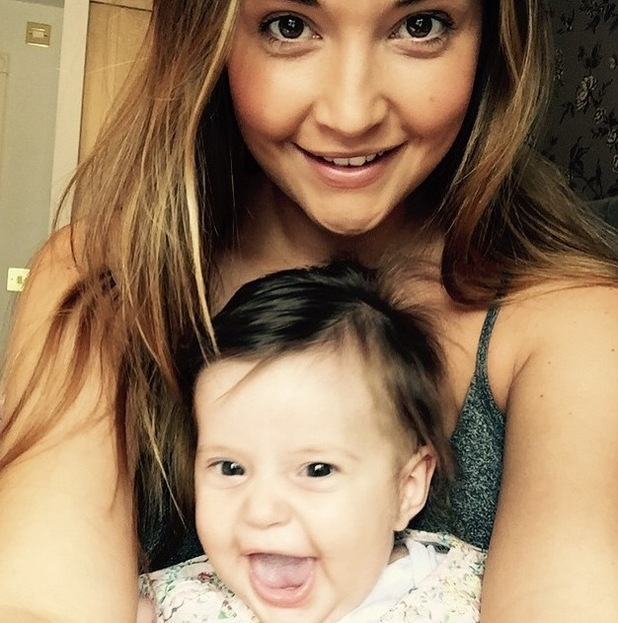Jacqueline Jossa shares new picture of baby daughter Ella - 25 June 2015.