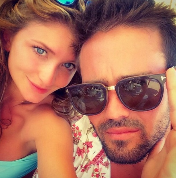 Made In Chelsea's Spencer Matthews and Lauren Frazer Hutton in Ibiza - 29 June 2015.