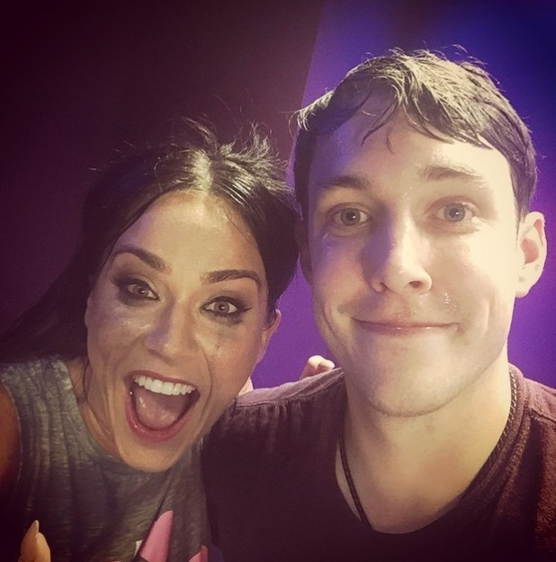 Vicky Pattison and Christ Stark upload Radio 1 selfie to Instagram 2nd July 2015