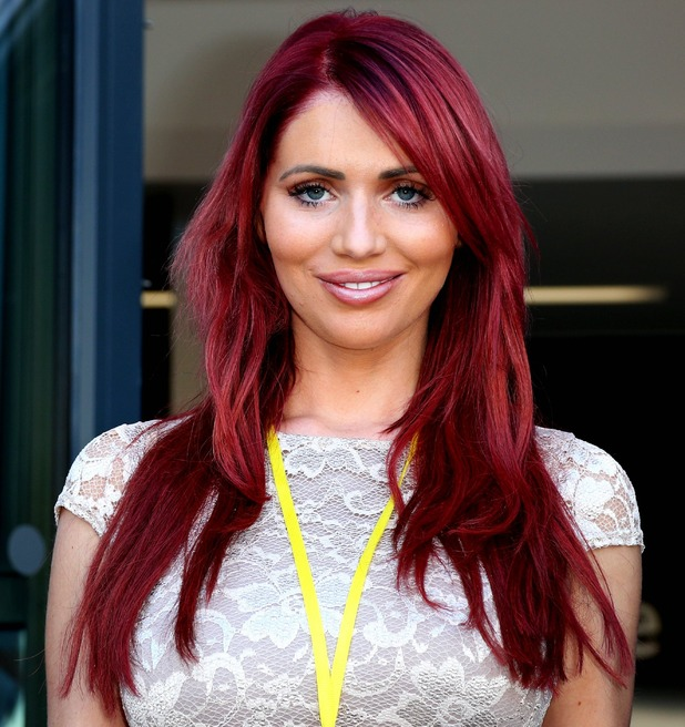Amy Childs opens new beauty academy at Stafford College, Staffordshire, Britain - 30 Jun 2015