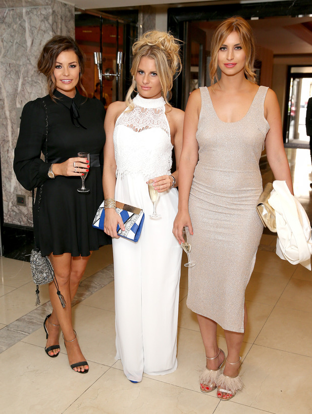 TOWIE's Jessica Wright, Danielle Armstrong and Ferne McCann attend the St John Ambulance's Everyday Heroes Awards, a star-studded celebration of the nation's life savers at Lancaster London Hotel on July 1, 2015 in London, England.