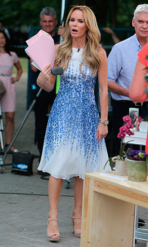 Amanda Holden and Philip Schofield filming on the Southbank 1 July 2015
