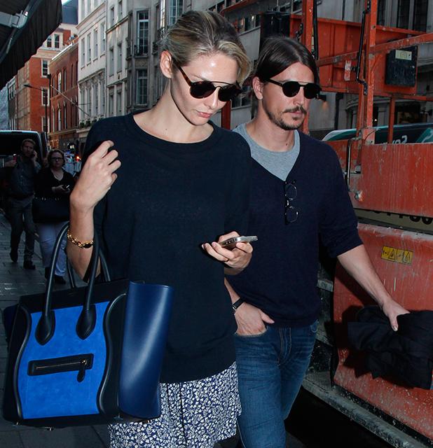 Tamsin Egerton and her boyfriend Josh Hartnett spotted leaving the Dover Street Market in Mayfair September 2014