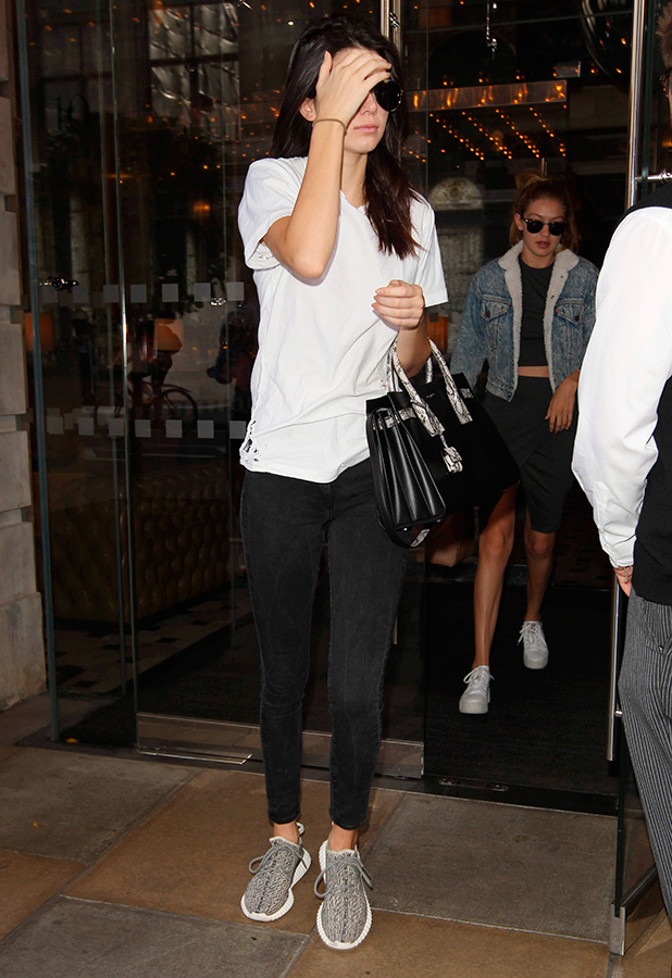 Kendall Jenner and Gigi Hadid Out and About in London, Britain - 02 Jul 2015