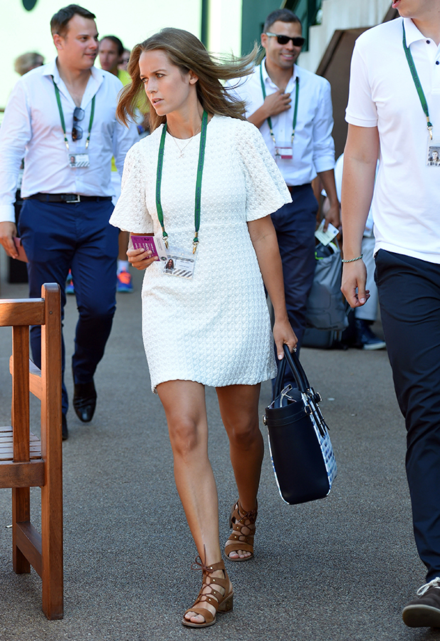 Kim Sears attends the Mikhail Kukushkin v Andy Murray match on day two of the Wimbledon Tennis Championships at Wimbledon on June 30, 2015 in London, England. (Photo by Karwai Tang/WireImage)