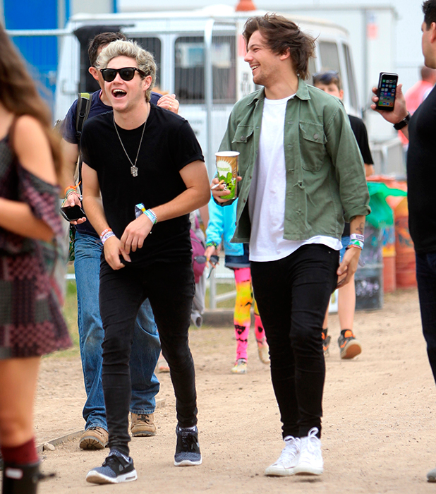 One Direction leaving the pyramid stage, Glastonbury 2015