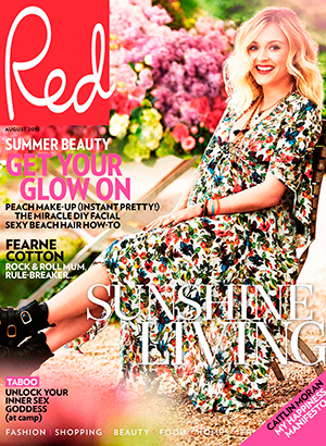 Fearne Cotton, full interview appears in the July issue of Red, on sale 2nd July