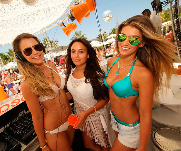 Ocean Beach Ibiza: Vogue Williams, Amy Willerton and Nadia Forde
