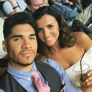 Lucy Mecklenburgh and Louis Smith at Wimbledon 7 July