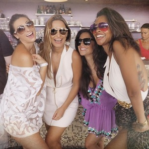 Sam Faiers, Casey Batchelor and Luisa Zissman in Cannes, France 6 July