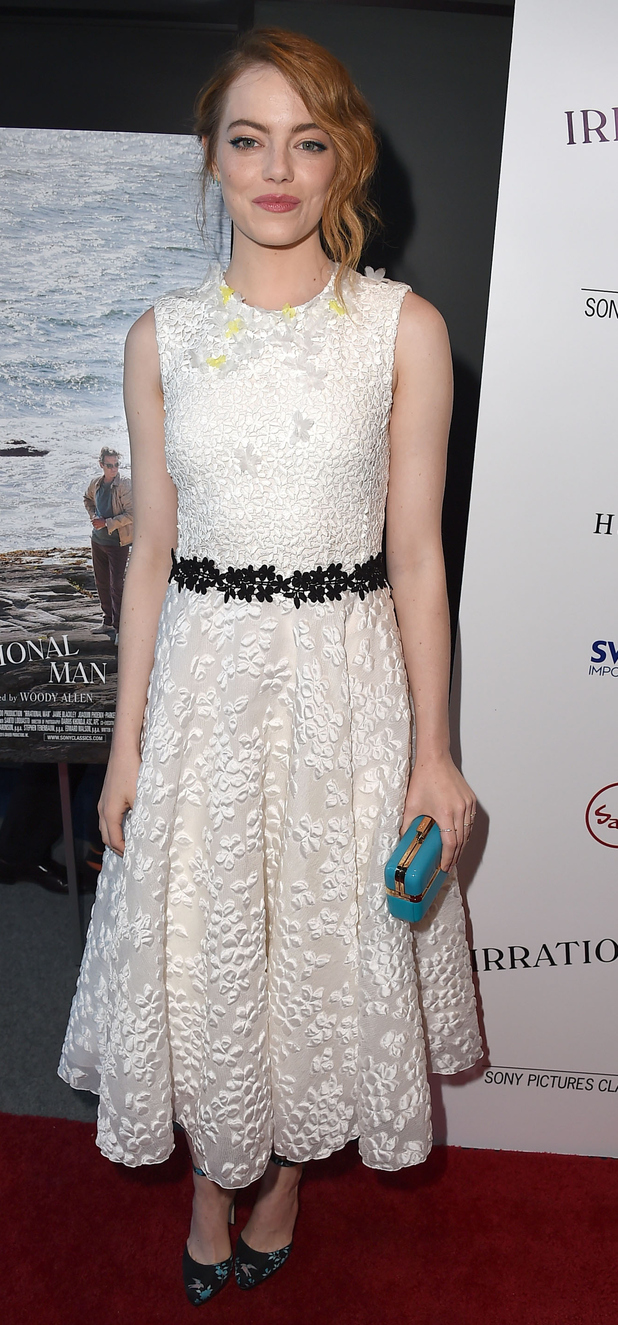 Emma Stone at Irrational Man premiere in Los Angeles 10th July 2015