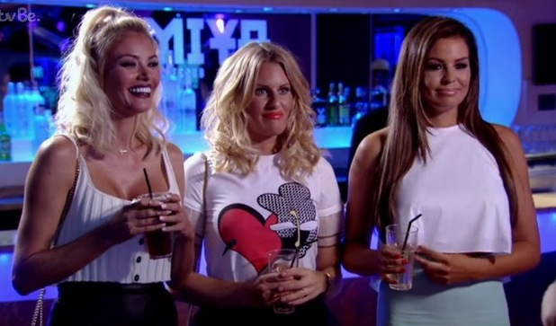TOWIE's Chloe Sims, Jessica Wright, Danielle Armstrong laugh at impressions of Lauren - 5 July 2015.