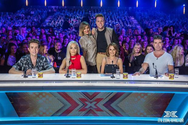 X Factor 2015: Simon Cowell, Cheryl Fernandez-Versini, Rita Ora and Nick Grimshaw have been pictured on the X Factor judging panel for the first time. 8 July 2015.