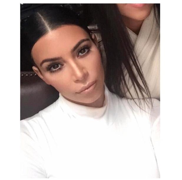 Kim Kardashian posts product breakdown selfie to Instagram 8th July 2015