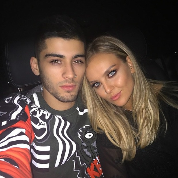 Perrie Edwards poses with fiancé Zayn Malik on birthday, 11 July 2015