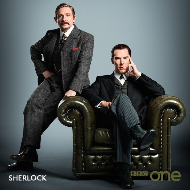 BBC release new Sherlock image from upcoming Victorian special - 9 July 2015.