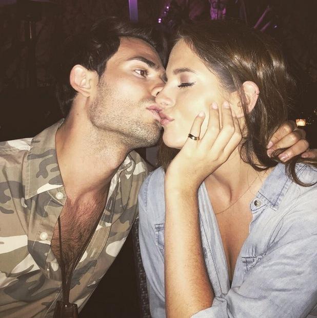 Binky Felstead and Mark-Francis kiss in LA 10 July