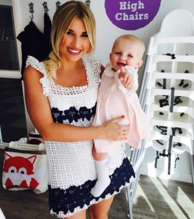 TOWIE: Billie Faiers throws Nelly a pink-themed first birthday party - 7 July 2015.