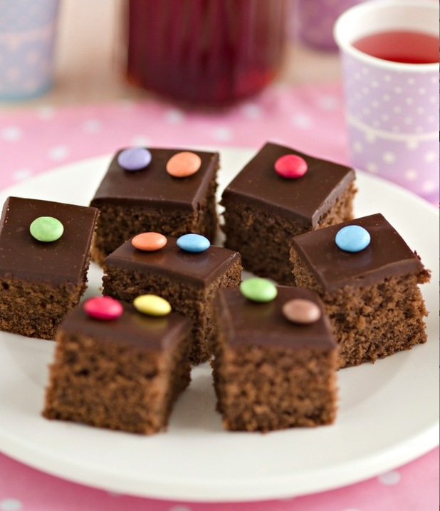 Rachel's organic chocolate tray bake recipe