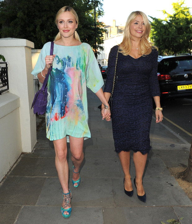 Fearne Cotton and Holly Willoughby, ITV Summer Party at a private address in West London - Arrivals, 9 July 2015